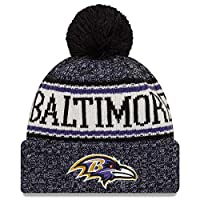 Eras edge Sideline Sport Knit Winter Fans Knit Beanie Hat Cap (Baltimore Ravens)