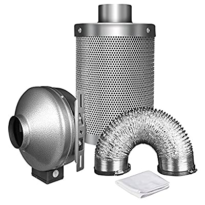 iPower GLFANXBOOSTER6 CFM Booster Fan Inline Duct Vent Blower for HVAC Exhaust and Intake