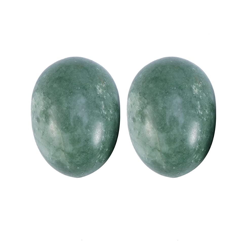 インフルエンザその結果申し立てられたSUPVOX 6本ネフライトジェイドヨニ卵ジェイドヨニマッサージストーンチャクラ骨盤筋肉癒しの卵マッサージKegelエクササイズ(Lushan Jade Egg)