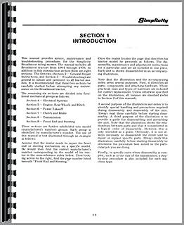 Simplicity Broadmoor 707 Lawn & Garden Tractor Service Manual