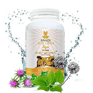 Capsulas vegetales AGNI de Cardo mariano, Diente de leon, Ortiga I 120 capsulas - 600 mg I Protector hepatico, desintoxicación para el hígado y sistema digestivo.