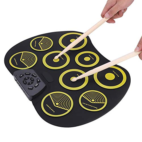 9 Pads Electronic Drum Set, Electronic Drum Pad Kit with Pedals, USB Cable, Drum Sticks Best Gift for Christmas& Children Birthday