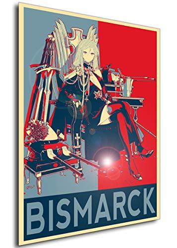 Instabuy Poster - Propaganda - Azur Lane - Bismarck Beacon of The Iron Blood Manifesto 70x50