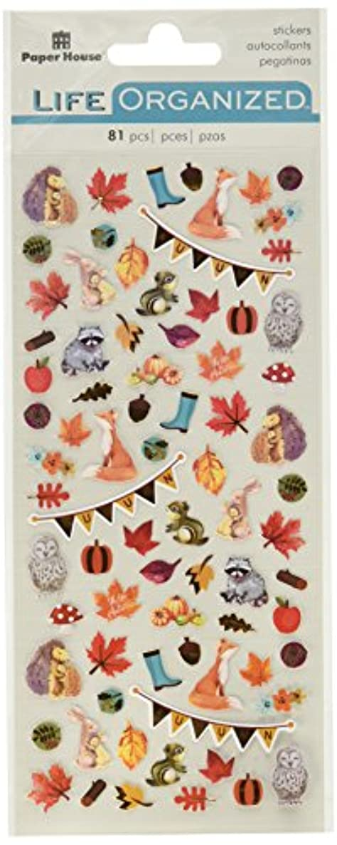 Paper House Productions Autumn Woods Stickers, Micro, 3-Pack,
