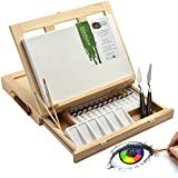 19 pcs. Artina Painting Set Milano Art Set with Tabletop Easel Canvas 20x30 cm Acrylic Paint Brush Palette...