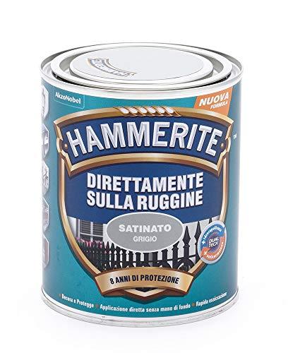 Hammerite Direttamente Sulla Ruggine Satinato Grigio 0.75 L