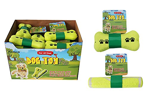 Diamond Visions 01-1110 Bone or Stick Dog Toy MultiPack in Tennis Ball Yellow (2 Bone Shaped Toys) Air Kong Squeaker Dumbell