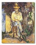 Cuadro Decoratt: El jardinero - Paul Cezanne 35x44cm. Cuadro de impresión directa.