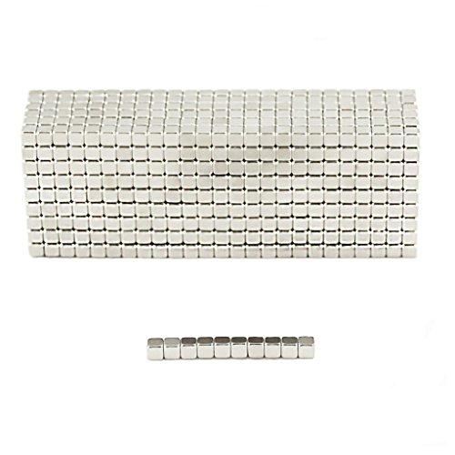 Oblique-Unique® 100 Neodym-Super-Magnete Würfel 3 x 3 x 3 mm