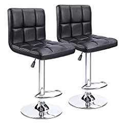 "【Function】:360° Swivel with Air-lift handle for easy direction and height adjustment 【Load Capacity】:280-pound maximum weight capacity; Seating Area Dimension: 16.1"" X 13.5"";Suitable for most people. 【Material】: Black boned leather around seat and ba..."