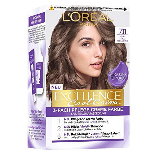 L'Oréal Paris Excellence Cool Creme 7.11 Ultra kühles Mittelblond, 258 g