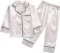 مجموعة بيجامة للأولاد والبنات الصغار، مجموعة ملابس نوم للأطفال الصغار بأكمام طويلة وأزرار وسروال