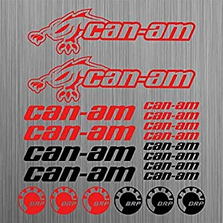 can-am for canam BRP sticker quad ATV decal 20 Pieces Racing Car Vinyl Die-Cut Sticker Kit Decal car sticker car styling decorative car body sticker (red)