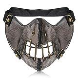 Steampunk Gothic Männer Leder Maske Halloween Cosplay Schädel Frauen Masken Amerikanischen Weicher Cosplay Gesicht Maske Mund Schutz