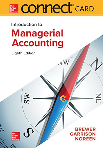 Top managerial accounting brewer 8th edition for 2020