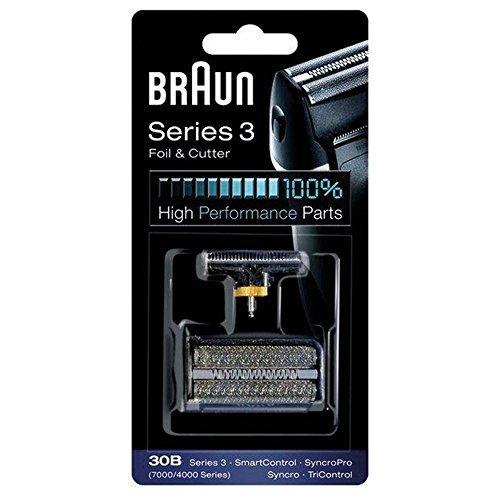 Braun 30B 7000 Series 4000 Series - Cuchilla de afeitar para hombre (incluye cortador de cabeza), color marrón