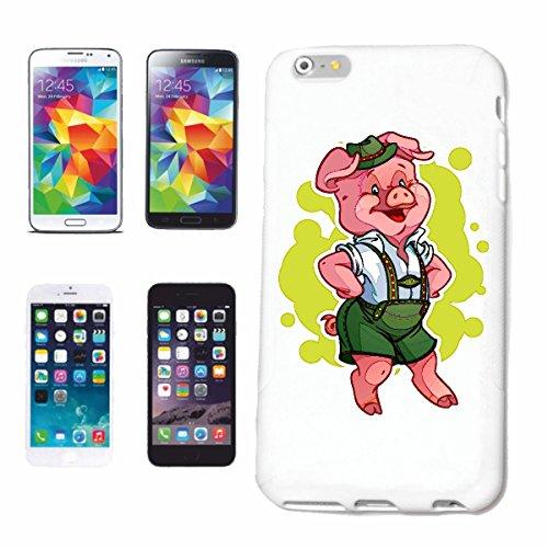 Reifen-Markt Handyhülle kompatibel für iPhone 6S Schwein MIT Lederhose Tanzt AUF DEM Oktoberfest Wildschwein MINISCHWEIN SCHWEINERASSE Ferkel SAU Hardcase Schutzhü