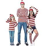 wetry Disfraz de Wally para Hombre Mujer Niños Trajes de Carnaval Familiar Cosplay de Halloween