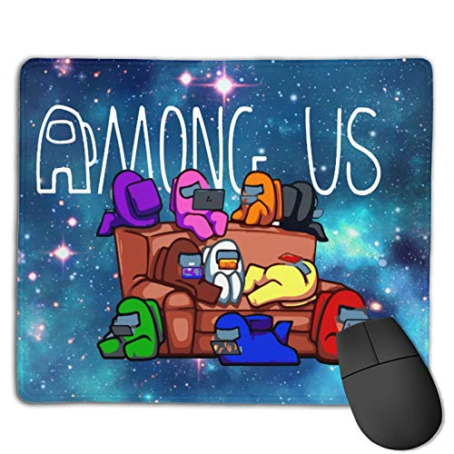 A-mo-ng U-s Mouse Pad for Laptop with Stitched Edge Non-Slip Rubber Base Gaming Mouse Mat Thick Mousepad 10 X 12 Inch