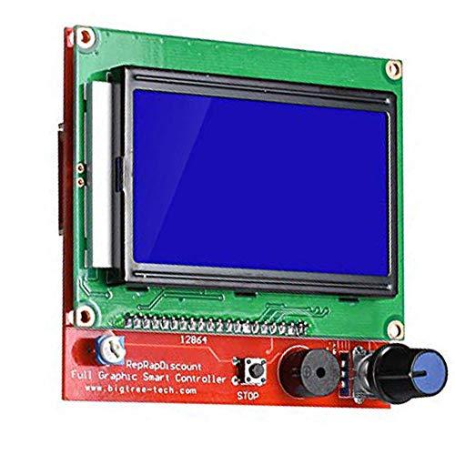 Pannello di Controllo LCD della stampante 3D RAMPS1.4 LCD 12864 LCD Pannello di Controllo Verde Display Controller Board