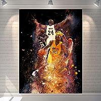 レイカーズ神戸壁アート#24バスケットボールタペストリー、スーパースターポスター永遠の伝説の壁の布の写真背景布の壁の装飾 A-200*150CM