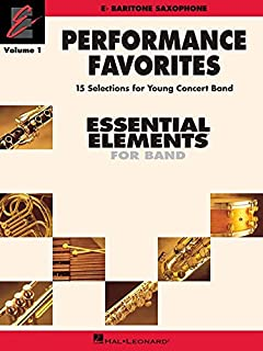 Performance Favorites, Vol. 1 - Baritone Saxophone: Correlates with Book 2 of Essential Elements for Band