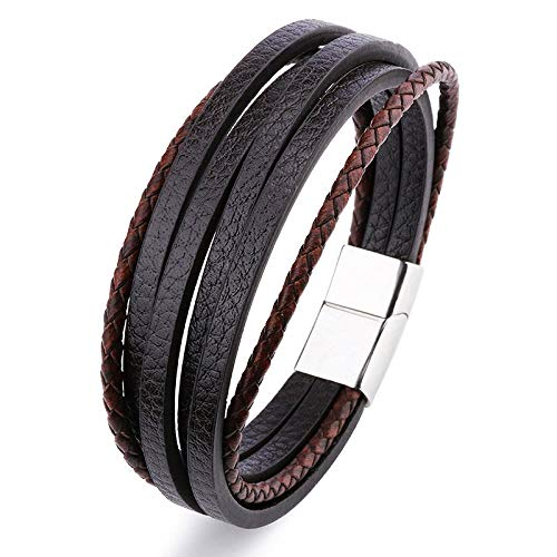 Jewellery Bracelets Bangle For Womens Fashion Multi-Layer Men Bracelet European Retro Pu Leather Wrap Bracelet Bangles Clasp Jewelry-H24037