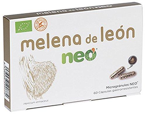 Neo Melena de León 60 Cápsulas | Mejora el Bienestar Digestivo a través de Hongos de Agricultura Ecológica | Certificado Halal, Kosher - Apto para Vegetarianos | Sin gluten ni derivados lácteos