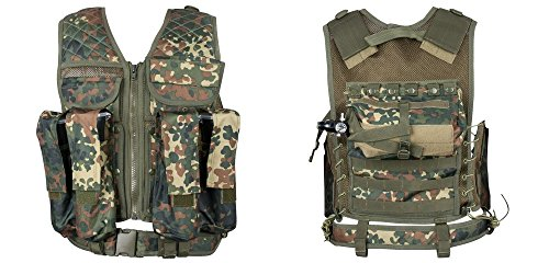 New Legion Erwachsene Tactical Weste Carrier Paintball, Flecktarn, M - XXL
