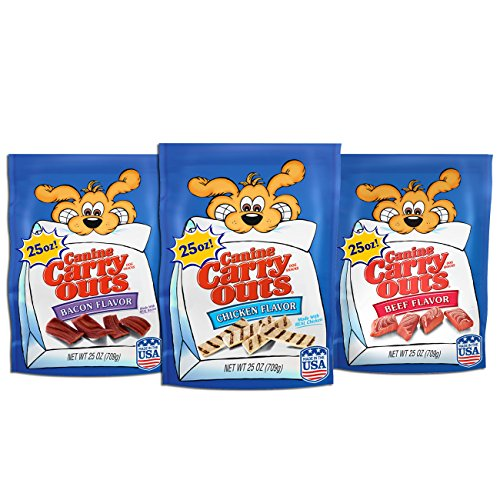 Canine Carry Outs Dog Snacks Variety Pack, 25Oz (Pack Of 3)