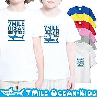 7MILE OCEAN 半袖 プリント キッズ ガールズ 子供服 男の子 女の子 ジュニア サメ シャーク ジョーズ 90 100 110 120 130 140 150 160 ペアルック 150 ASHGREY gsvmkids0131