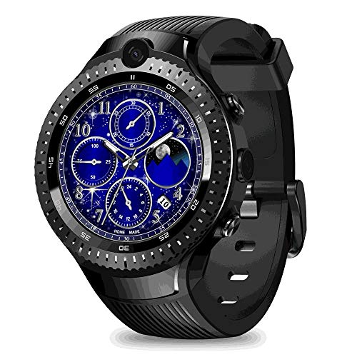 "Zeblaze Thor 4 Dual Camera 4G SmartWatch, Teepao 1GB 16GB MTK6739 Quad Core WiFi Android 7.1 Smart Watch Multi Sport Modo Fitness Tracker Support GPS/GLONASS 530 mAh Battery 1.4"" Screen AOMLED"