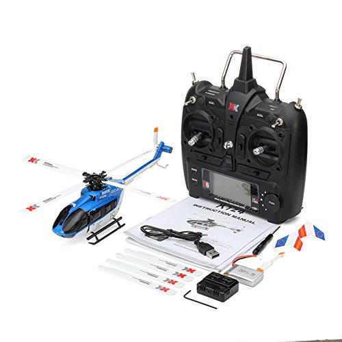 ACHICOO XK K124 RC Drone BNF sin emisor 6CH Brushless Motor 3D helicóptero Sistema Compatible con FUTABA S-FHSS Gag-Geschenke para niños