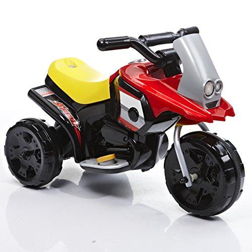 ROLLPLAY Elektro-Motorrad, Für Kinder ab 1 Jahr, Bis max. 25 kg, 6-Volt-Akku, Bis zu 2 km/h, My First Motorcycle, Rot