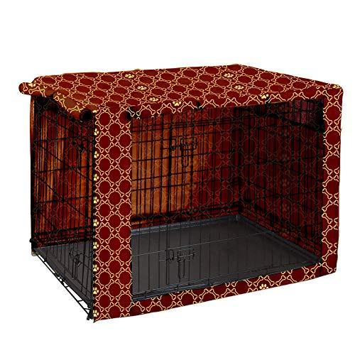 Pethiy Funda para Perro, de poliéster, Resistente, Universal, para jaulas de Perro de Alambre – se Adapta a la mayoría de Cajas de Perro de 36 Pulgadas – Solo Funda