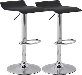 KYOTECH Set of 2 Adjustable Swivel Barstools