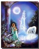 Moonlight Garden Einhorn Pferd und Frau Gina Femrite