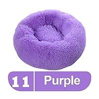 Petsupplies 長いなふわふわペット犬のベッドを落ち着いた犬のベッドドーナツ丸猫犬のベンチ柔らかい暖かいチワワケンネル大マットのペットの供給 -Purple-90cm