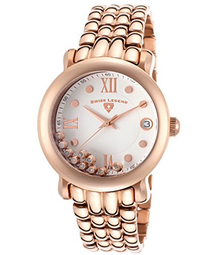 Swiss Legend Diamanti Diamonds Rose-Tone Steel White Dial Women's Quartz Watch 22388-RG-22