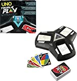 UNO Triple Play Family Card Game with Card-Holder Unit with 3 Modes, Lights &...