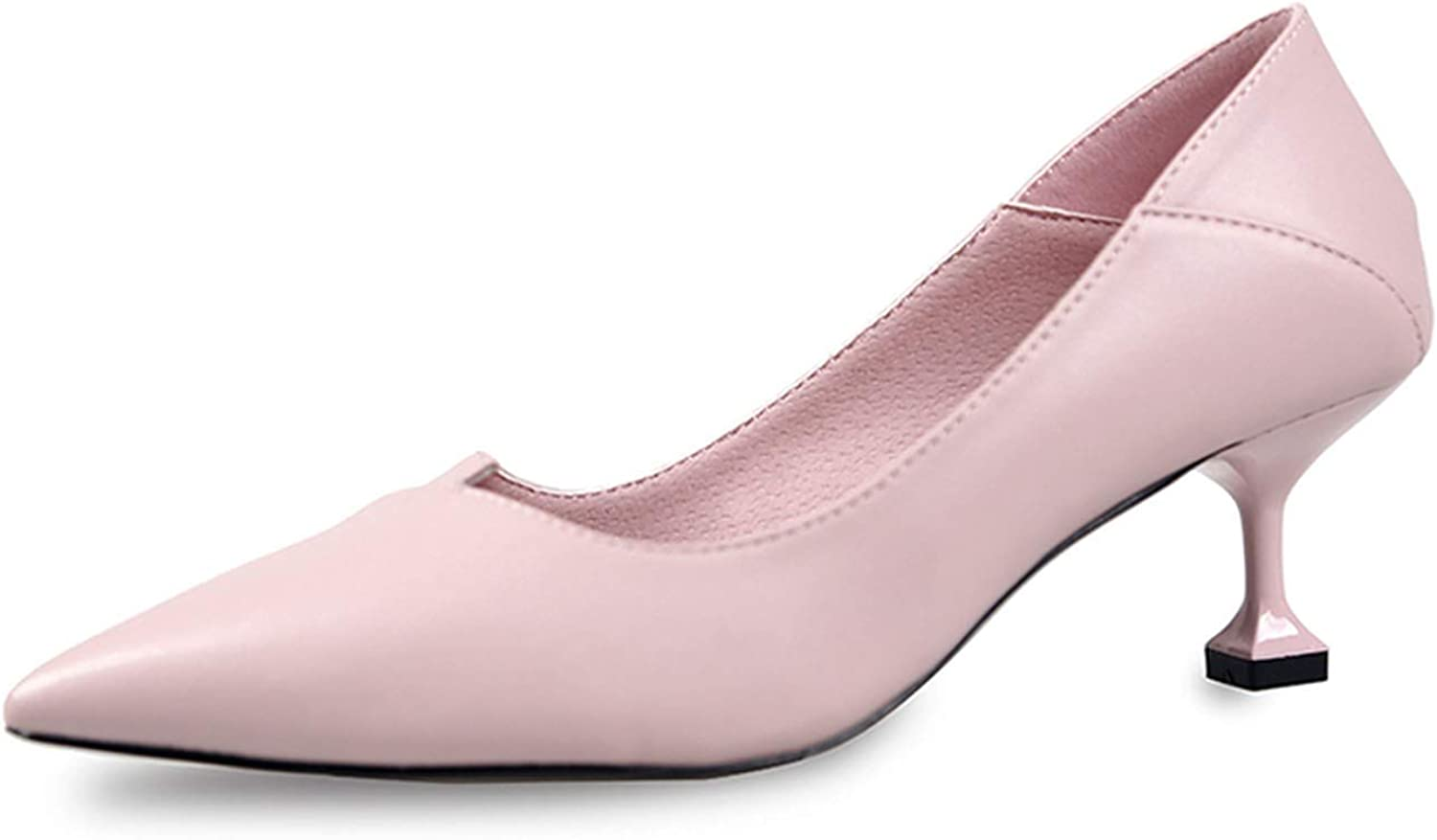 I'll NEVER BE HER Women Classic Pumps 6 cm High Heels Single Dress shoes Shallow Slip On Pointed Toe Lightweight