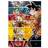GWD CONCEPT Goku Cartel de Metal para Dragon Ball Fans Mural con imán...