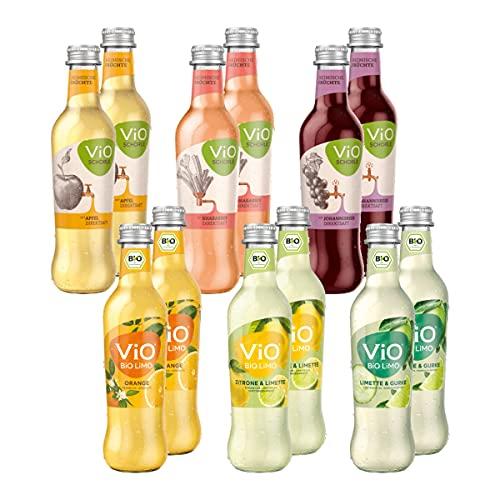 Vio Schorle & Bio Limo Probierpaket 12 Flaschen je 0,3l