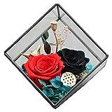 YJF-YSH Ewige Blume geometrische Glas raumdekoration Mode Geschenke high-end Geschenke hauptdekoration Desktop ewige Blume Ornamente -