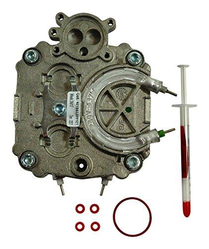 SAECO Boiler Durchlauferhitzer Magic Royal Incanto Stratos 2 Heizkreise bzw. 2 Heizungen inkl. Dichtungen und Wärmeleitpaste