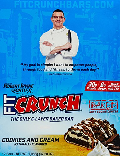 FortiFX Fit Crunch Cookies and Cream Bars - Pack of 12