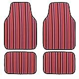 Eono by Amazon - Juego de 4 alfombrillas para coche, impermeables, aptas para todoterrenos, furgonetas, sedanes, camiones (rojo)