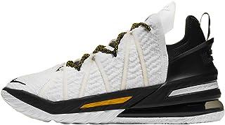Nike Men's Lebron XVIII Home White/Amarillo-Black (CQ9283 100) -