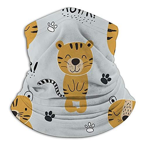 Tigres divertidos S Animales infantiles Animal The Arts Bufanda facial Pasamontañas informal Sombreros Pañuelo elástico Diademas Protección contra el viento/sol/rayos UVA
