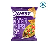 Quest Nutrition Tortilla Style Protein Chips, Loaded Taco, Low Carb, Gluten Free, Baked, 1.1 Ounce (Pack of 12)